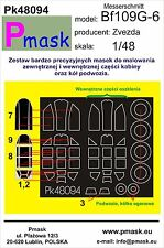 MESSERSCHMITT Bf-109 G-6 PAINTING MASK TO ZVEZDA KIT #48094 1/48 PMASK