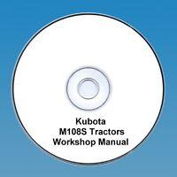 Kubota M108S M 108S Tractor  Workshop Manual