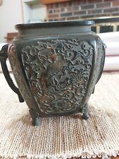 Antique Vintage Chinese or Japanese Bronze Vase Urn Pot