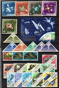 SHARJAH - 117 HM/NHM/CTO STAMPS PLUS 5 HM/CTO MS (SEE 4 SCANS)