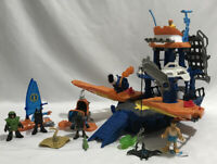 Lot of Imaginext Ocean Adventures Boat Deep Sea Mission Ship Diver Figures