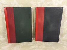 Vintage Set of 2 Volumes of Books in Hebrew in Slipcover Circa 1927