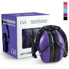 Shooting Earmuffs Noise Cancelling Hearing Protection Purple 34dB Ear Muff New
