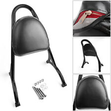 Sissy Bar Backrest w/Pad For Sportster Iron Nightster 883 1200 XL 04-16 Blk AUS