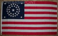 3'x5' USA 34 Stars Flag Civil War Union Historical Outdoor Banner US States 3X5