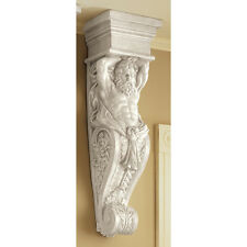 Ancient Greek Telamon God in Human Form Support Structure Wall Sculpture