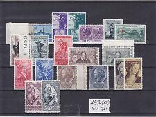 ITALIA REPUBBLICA 1954 ANNATA COMPLETA 20 VALORI GOMMA INTEGRA