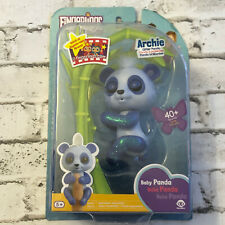 WowWee Fingerlings Glitter Panda -  Archie (Blue) - Interactive Collectible Toy