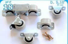18 Rigid Rubber Fixed Caster Wheels Casters 30mm Furniture Beds Drawers Boxes