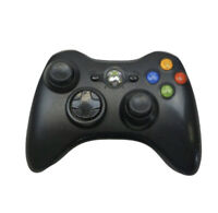 Genuine Microsoft Xbox 360 Black Wireless Controller