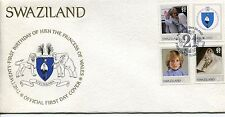 1982 Swaziland.  First Day Cover.  21st Birthday of HRH The Princess of Wales.