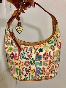 Vintage Dooney & Bourke Multicolored Hobo Bucket Handbag