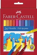 Faber-Castell Playing and Learning Multi-Colour Fiber-Tip Pen (Pack of 24)