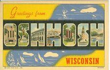 Oshkosh, WI x A Big Letter Greeting from Oshkosh