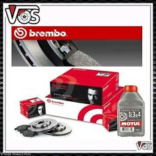 SUPER KIT BREMBO DISCHI E PASTIGLIE ANT + POST VW GOLF 4 IV OLIO FRENI DOT 4