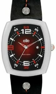 Elite Men's Analogue Watch E6001.1.011 with Red Rectangular Case
