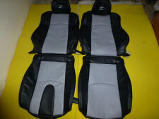 Fits for Nissan 2003-2008 350Z Synthetic Leather Seat Covers Black/Light Grey