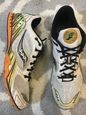 Saucony Cross Country Track Spikes Shoes  US Mens 11 Orange and Gold 20037-1 A2