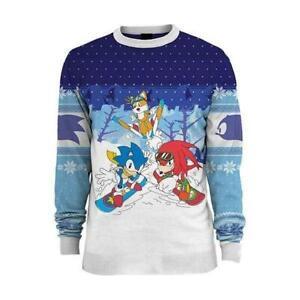 Officiel Numskull Pull Noël Sonic The Hedgehog Ski UK :3 XL / US: 2XL Neuf