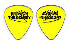 Eddie Van Halen Signature Bring On The Donkey Clear Yellow Guitar Pick 2004 Tour