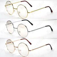 New John Lennon Round Retro Metal Frame Clear Lens Circle Glasses Hippies 70 80s