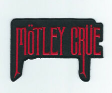 MOTLEY CRUE RED LOGO EMBROIDERED PATCH !