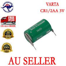 1X VARTA Battery 3V CR 1/2AA CR14250 W/2Pin tabs for CNC PLC backup AU
