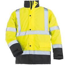 Parka blouson de travail  Haute Visibilité fluo jaune  3-en-1 SECURITE T- XL