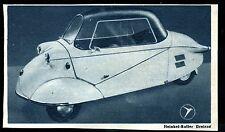 Heinkel -- ROLLER -- TRICICLO -- Pubblicità di 1953
