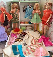 Vintage Barbie Francie & Friends Case With Clothes & Accessories Lot