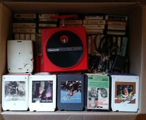 Vintage Panasonic TNT 8 Track Player w/ 100+ 8 track cassettes