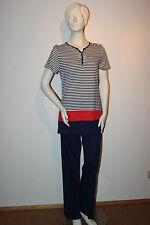 "Triumph Pyjama  ""Lasting Summer PK 02"" Gr.38 gestreift blau Hose lang Loungewear"