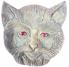 Portugal MEDALLIC DISH IN THE SHAPE OF A CAT HEAD bronze 95mm x 95mm