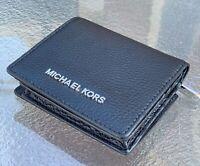Michael Kors Kimberly  JET SET TRAVEL Leather BLACK MD CARRYALL  Wallet