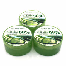 3 Pack Aloe Vera Gel FOR FACE & BODY-Calmante & Humedad a granel 300ml (10.58oz)