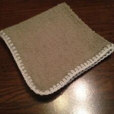 "Dish Cloth/Wash Cloth 11"" Square Terry Cloth with Crochet edge"
