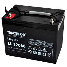 Triathlon long life AGM ll12060 strumento di batteria 12 volt piombo tessuto non tessuto BATTERIA 60ah
