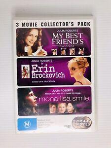 My Best Friend's Wedding / Erin Brockovich / Mona Lisa Smile DVD, 2006, 3-Discs
