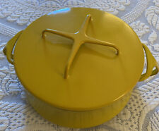 Vintage Yellow Enamel Dansk Kobenstyle Covered Dutch Oven - Excellent Condition