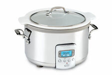 All-Clad SD710851 4-Quart Slow Cooker w/ White Ceramic Insert & Glass Top NDB
