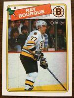 1988 OPC O-Pee-Chee Ray Bourque #73 Hockey Card - MT.