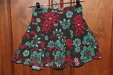 Girls Pumpkin Patch Gray skirt with floral pattern size 4