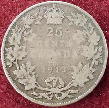 Canada 25 CENTESIMI 1913 (D2004)