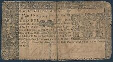 Md-56 $2.00 Maryland Colonial Currency 03/01/1770 Bs6537