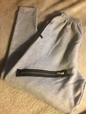 Original Chachi Momma Grey Sweatpants Zippered Money Lined Pockets Skinny Legs S