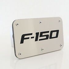 Ford F-150 Laser Etched Brushed Stainless Tow Trailer Hitch Cover Plug