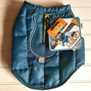 Kurgo Loft Dog Coat NEW Size XS Reversible Jacket Dark Teal Aqua Blue