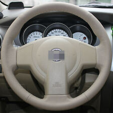 Beige Steering Wheel Cover for Nissan Versa Sedan Tiida 2008 2009 2010 2011 2013