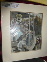 1899 Antique Print THE ILLUSTRATED LONDON NEWS August 19th Hand-coloured Mounted