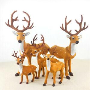Christmas Simulation Plush Reindeer Xmas Elk Plush TOY New Year Decoration